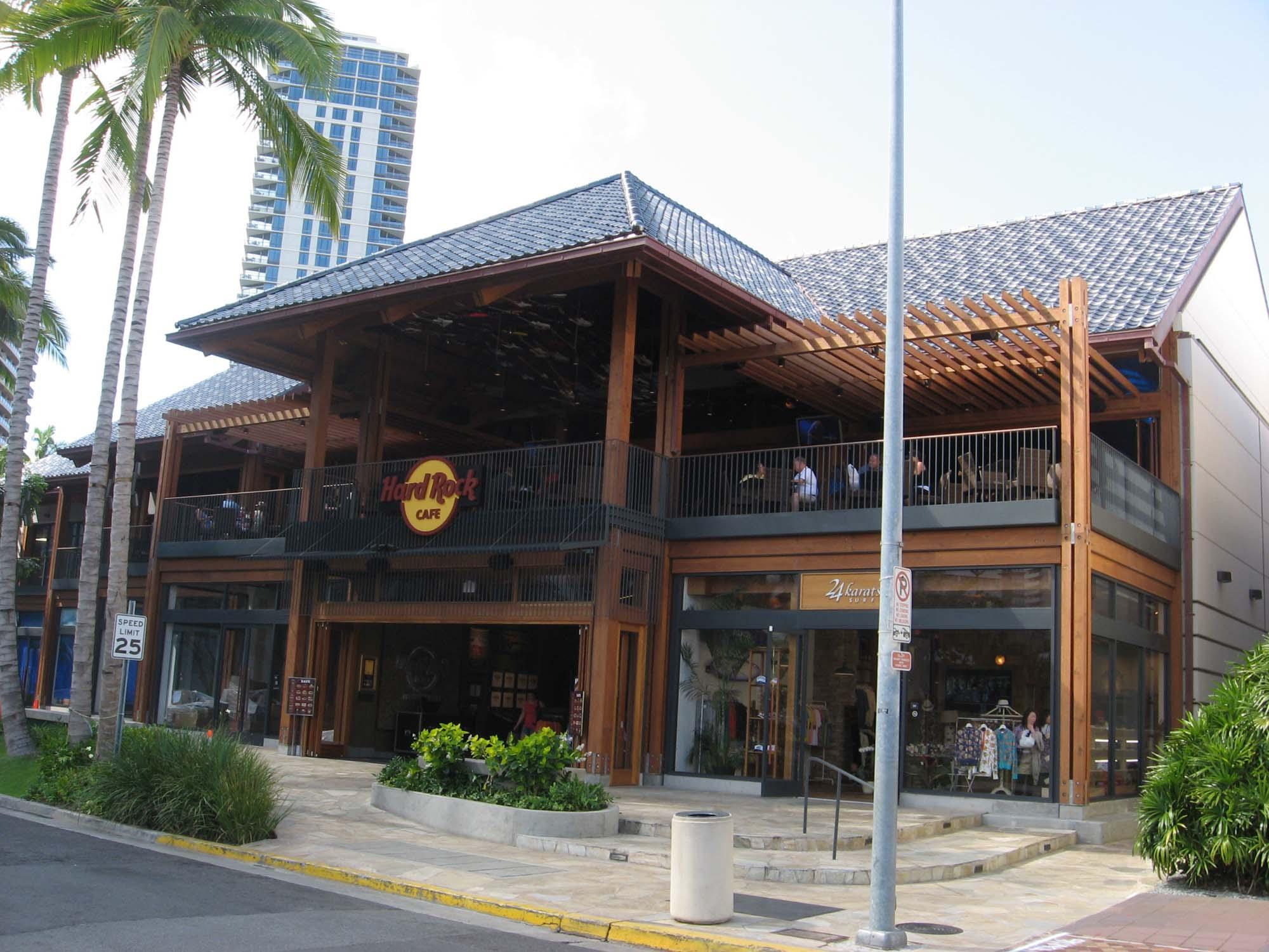 The Hard Rock showcases the 280 Beach Walk retail complex in Waikiki